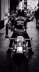 Biker Rebels, Malta_HJF_7524 (wordly images) Tags: hellsangels motorcycle harleydavidson bikers malta sliema iphone blackandwhite bw
