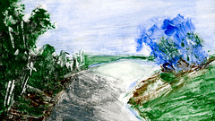 route 22 (Frdric Glorieux) Tags: frdricglorieux route road peinture painting acryl france a4