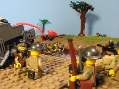 10 October, 1944- Leopold Canal, Belgium (Sgt._Johnson) Tags: lego wwii canadiann german battle scene scheldt