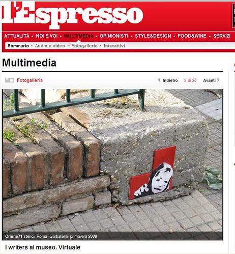 omino71 @ l'Espresso web site by LASCIA IL SEGNO by OMINO71