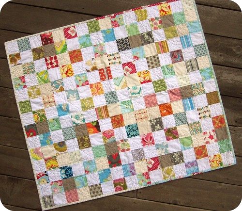 Scattered Scrap Quilt - complete