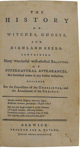 Title page of The history of witches, ghosts, and Highland seers