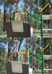The Swing. (i.am.a.procrastinator.) Tags: park trees abstract tree green swings sydney australia swing equipment nsw newsouthwales local junglegym localpark