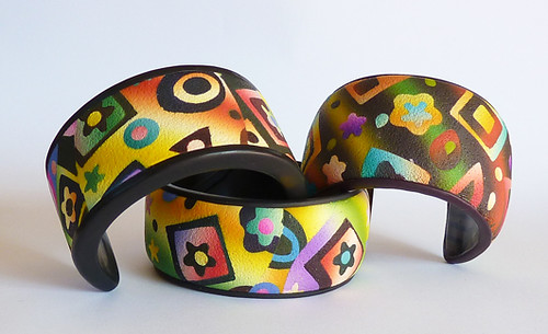 Abstract bangles by papagodesign