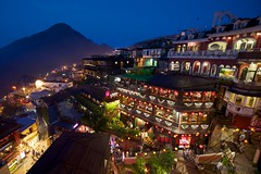 Jiufen Teahouses 九分茶坊 (Taiwan Adventures) Tags: old travel people mountain history tourism night stairs landscape asian japanese evening asia market tea weekend traditional crowd steps chinese scenic taiwan tourists historic adventure staircase nightmarket lanterns taipei guide lantern 台灣 台北 tours teahouse guides oldstreet 九份 teashop rueifang chineselantern jiufen jioufen teahouses 九份老街 northerntaiwan jeofen rueifangtownship japaneseteahouses taiwanadventures