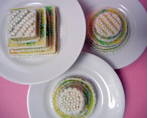 mini tiered cakes