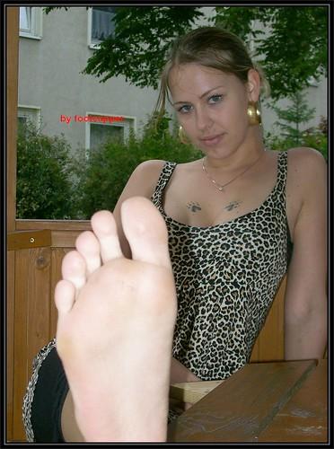 Idea blonde soles bare feet think