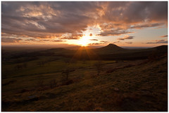 Roseberry Topping at sunset (Matthew Earnshaw) Tags: sunset landscape landscapes yorkshire cleveland north sunsets teesside greatayton northyorkshire guisborough 1022 clevelandhills roseberrytopping teeside canon1022mm landscapephotography guisboroughwoods