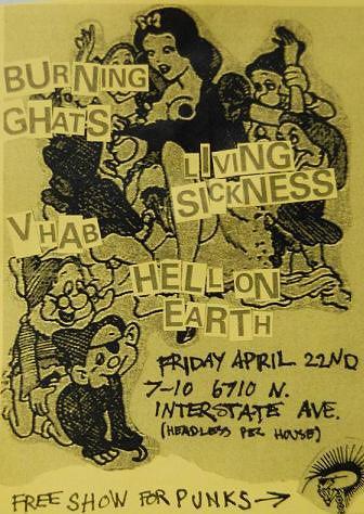 4/22/11 BurningGhats/LivingSickness/VileHorrendousAerialBombardment/HellOnEarth