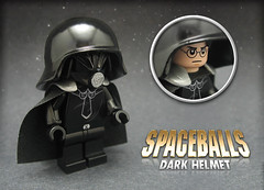 Spaceballs: Dark Helmet! (Morgan190) Tags: movie starwars comedy lego space contest scifi sciencefiction spoof minifig custom darthvader m19 minifigure spaceballs darkhelmet brickforge morgan19 morgan190