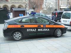 Polish Police Car- Toyota Prius (orclimber) Tags: car police krakow polish prius toyota cracow straz miejska