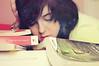 14/52 - Ellos (Lunayda) Tags: pink girl reading book nikon prince books galaxy fantasy thinking camilla universe hallows jkrowling ream