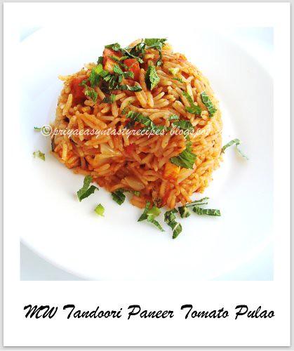 MW tandoori paneer tomato pulao