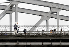 Hue Tran Tien Bridge Pedestrians (fotofrysk) Tags: vietnam pedestrians hue trangtienbridge nikond200 march2011 indochinatour