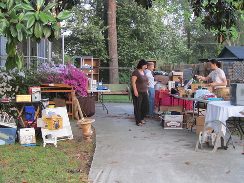 the yard sale during a lull