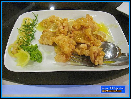 Hai Shin Lou Crispy Lapu Lapu with Lemon Sauce