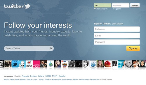 New Twitter Homepage by rikulu