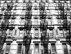 pre-war. (jdx.) Tags: nyc newyorkcity blackandwhite newyork architecture photography lowereastside grayscale tenement orchardstreet jdx