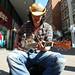 Dobro guitar player in Soho