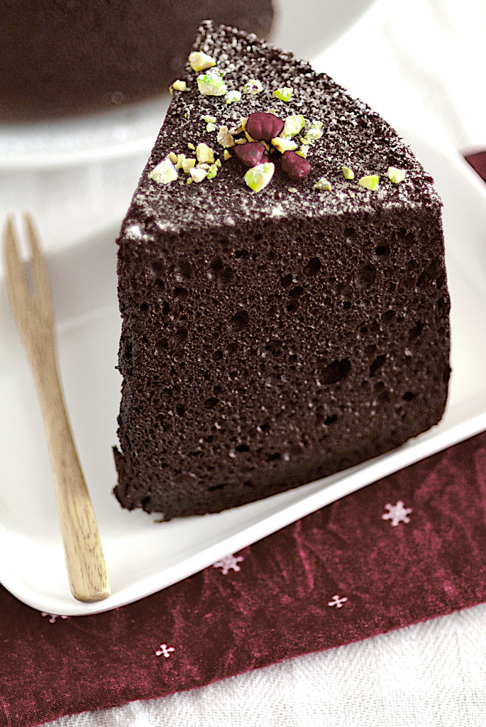 Best Chocolate Chiffon Cake