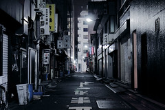 shutter street (planet-110) Tags: street urban japan night tokyo asia cityscape backstreet shutter       efs1755mmf28isusm