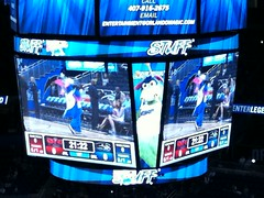 Stuff the Magic Dragon (msnguy81) Tags: orlando florida mascot arena stuff nba scoreboard amway orlandomagic centralflorida orlandoflorida nbaplayoffs nbabasketball amwaycenter stuffthemagicmascot