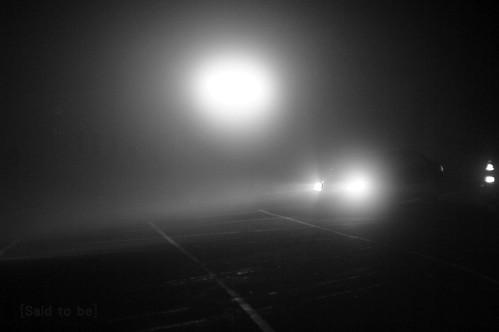 04/16 晚上六點半,氣溫六度六,合歡山莊前霧重風強