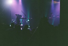 Cut Copy (RE) Tags: music film colors stage neonlights disposablecamera terminal5 cutcopy