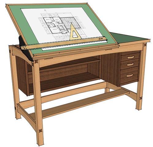plans for drafting table