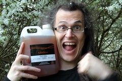 The ciderpunx becomes overexcited at 2.5 litres of finest