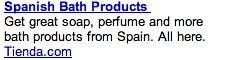 Spanish Bath Products - Ad #1