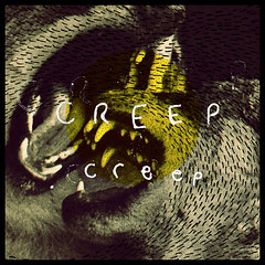 Creep (anthoneycarter) Tags: collage handwriting typography screenprint halftone wolves lineardesign linescreen handdrawntype