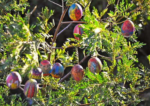 Brilliantly colored Easter Eggs