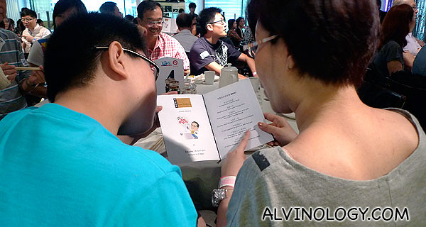 The menu at Lao Beijing