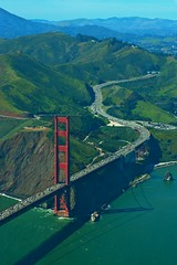 Flying over the Golden Gate