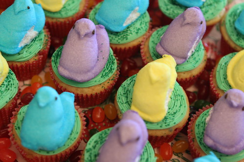 Easter PeepCakes top view