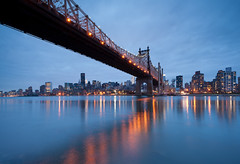 Queensboro bridge (Diego Tabango) Tags: street nyc newyorkcity blue ny reflection ed outdoors nikon cityscape queens hour nikkor koch 1735mm 59th d700