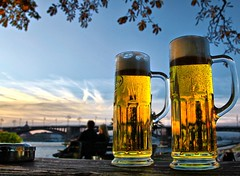 Cheers!! (Ken Yuel Photography) Tags: beer rhineriver xoxo beermugs digitalagent coolones kenyuel mainzgerman banksoftherhineriver