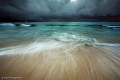 Coogee Beach (-yury-) Tags: ocean sea seascape storm motion beach water clouds sunrise landscape sand surf mood moody sydney wave australia nsw swell coogee