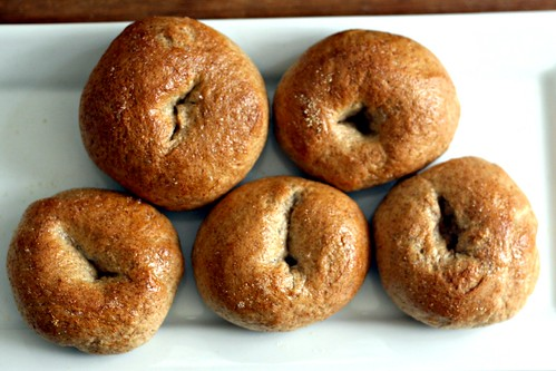 Whole Wheat Bread Machine Bagels