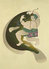 the taming of the namazu (scott balmer) Tags: illustration retro drawn wacom vector
