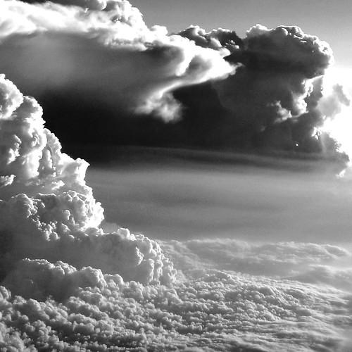 フリー写真素材, 自然・風景, 雲, モノクロ写真,