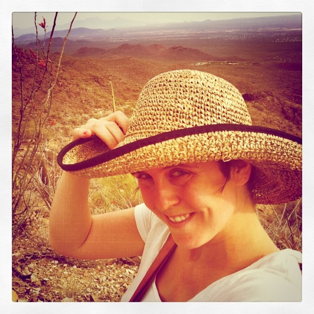 You need a silly sun hat in Arizona