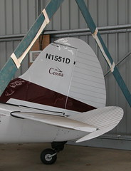 CESSNA 190 N1551D (BIKEPILOT) Tags: old flying airport aviation airfield buckenham aircrft cessna190 egsv n1551d