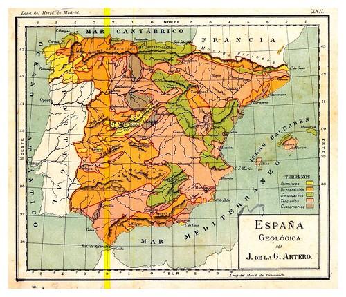 006-España geologica-Atlas De Geografía- Astronómica, Física, Política Y Descriptiva 1908- Juan G. Artero