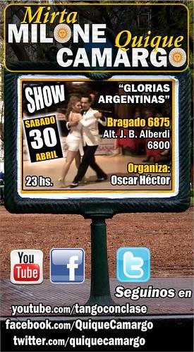 Show 30 de abril 2011 en Glorias Argentinas