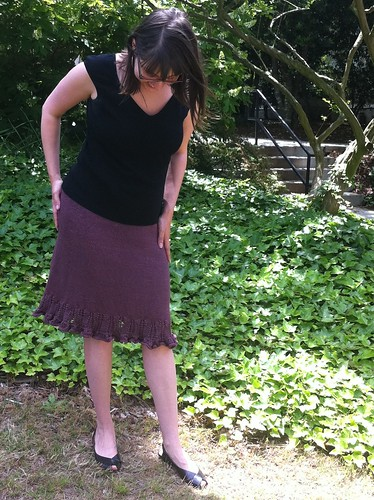 Sawtooth skirt (with indigo ripples at the bottom)