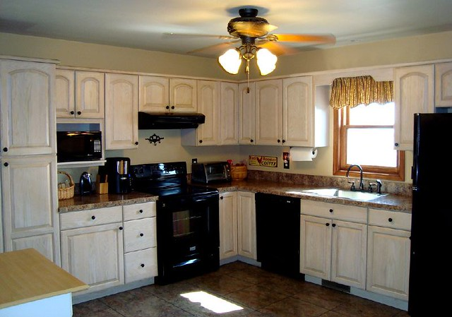 Budget Kitchen Facelift W/ Formica Butterum Granite