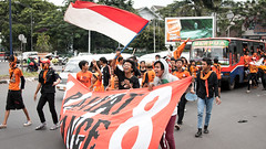 Game Day (killerturnip) Tags: travel orange game kids indonesia asian asia day soccer crowd parade exotic jakarta fans 2010