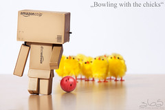 Bowling with the chicks (Oliver Totzke) Tags: 2 chicken canon toy mark n bowl days sp ii 1d bowling strike 28 365 tamron 70200 f28 70200mm danbo mark2 1dmk2n revoltech danboard